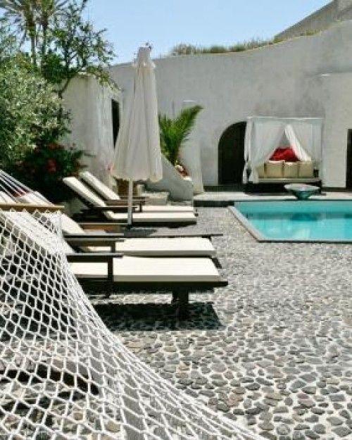 santorini courtyard - Bing Images
