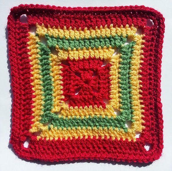 Crochet Block no. 2 - Stylecraft Special DK - 4mm crochet hook