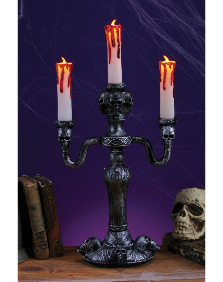 ideas for spooky halloween decorations 14 inch led candelabra