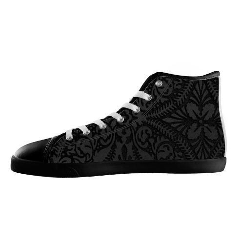 Burnt Velvet Shoes - Available Here: http://www.customdropshipping.com/personalized-design/personalized/burnt-velvet-black-high-top-canvas-shoes-model002-women-47251