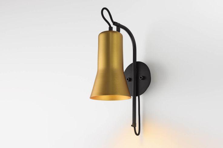 Ross Gardam   Silhouette wall light in gold anodised   Daily Imprint Interview + More Images http://www.dailyimprint.net/2015/09/designer-ross-gardam.html