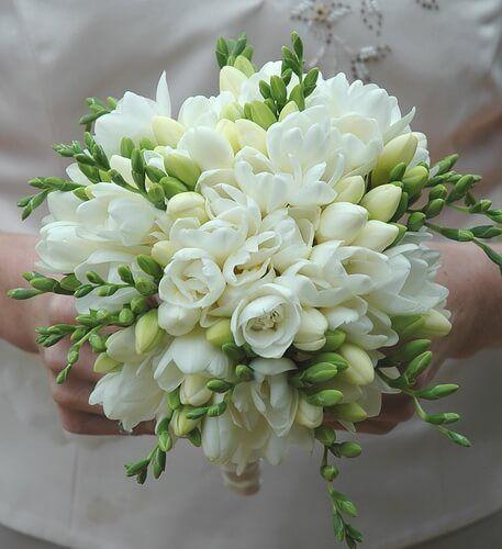 фрезии букет невесты