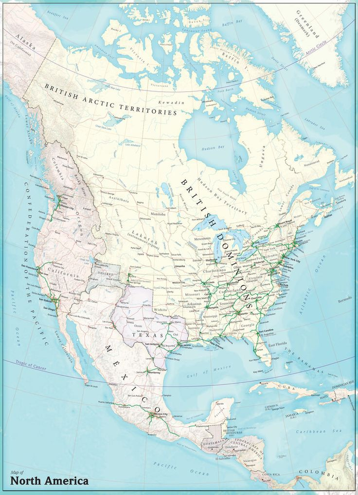 British North America (if the American Revolution had never happened). | 22 Perfect Maps Of Places That Don't Actually Exist