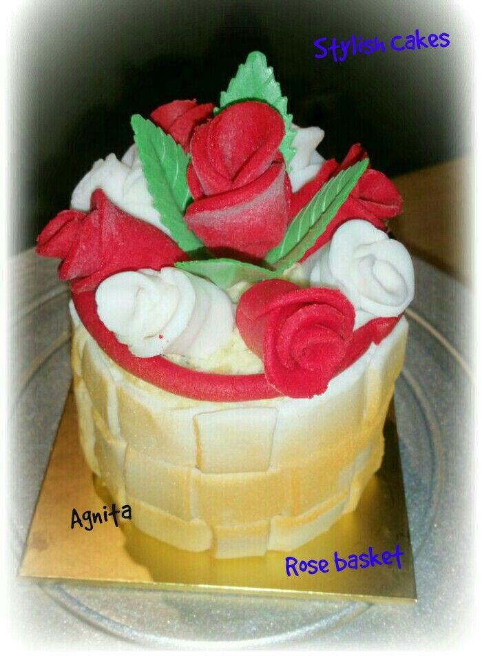 Rose basket cake