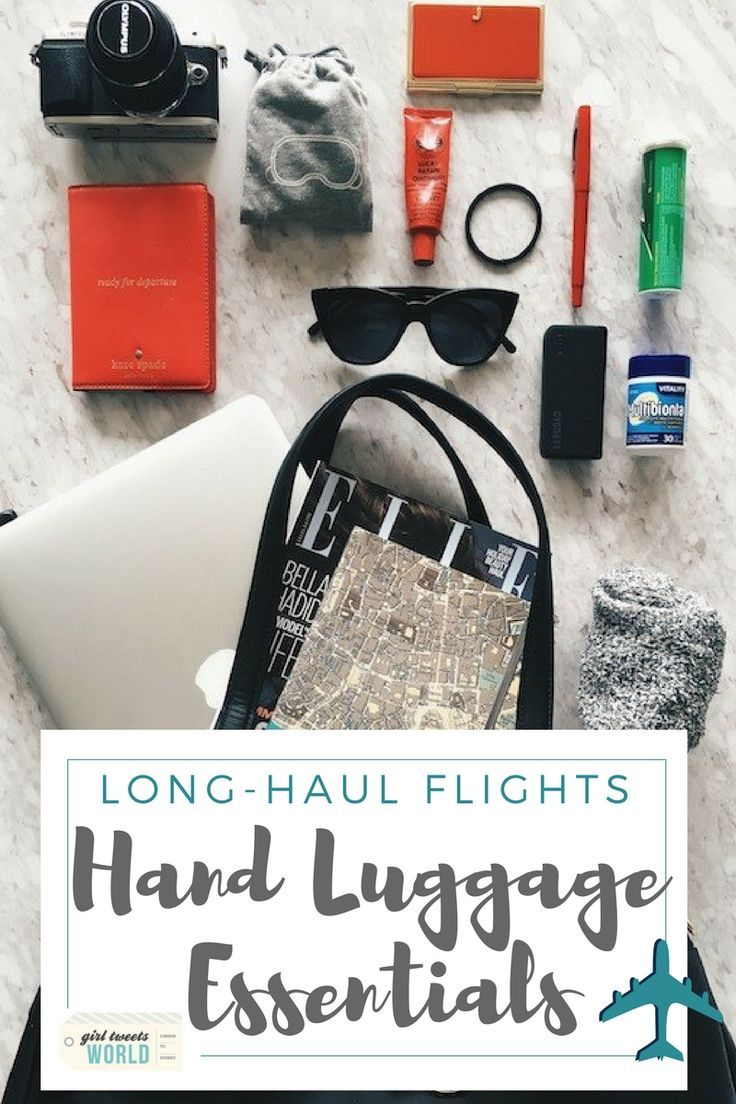 Secrets of a frequent flyer. Discover the essential items you need in your hand luggage for a comfortable long-haul flight - without exceeding the cabin baggage limit. #frequentflyer #packing #handluggage #cabinbaggage via @girltweetsworld