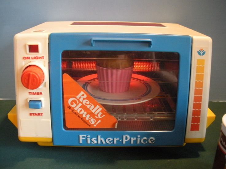 Vtg. Fisher Price Fun-with-Food #2117 Golden Glow Toaster Oven Comp/EXC++-NR MT $65.00