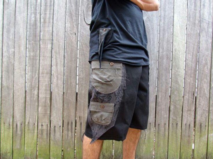Cargo shorts, fisherman pants, large pockets