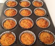 Veggie Loaded Oatbran Muffins