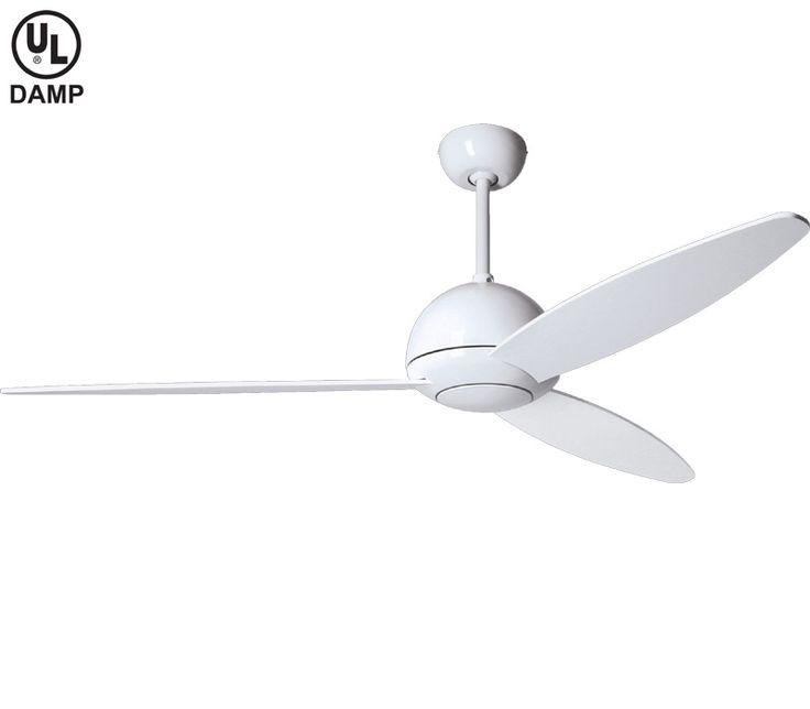13 Best Ceiling Fan Options Images On Pinterest: modern white ceiling fan