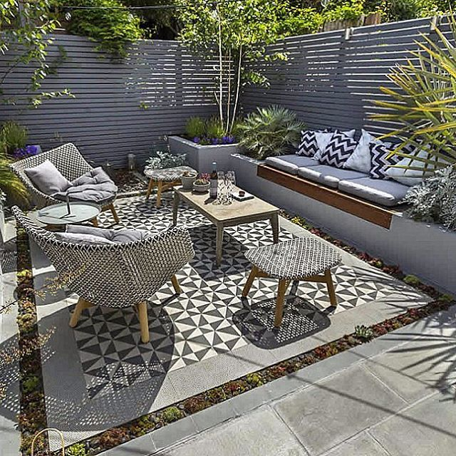 Small garden inspiration – This urban outdoor area was designed and constructed …