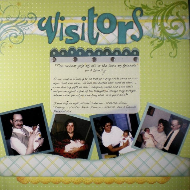 Keepsake Crafts | More Baby Scrapbook Pages – Visitors | http://keepsakecrafts.net/blog