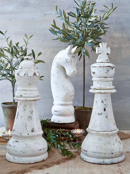 Substantial in size, yet with a beautifully understated finish, our gorgeously carved wooden chess pieces make the perfect Scandinavian style statement.