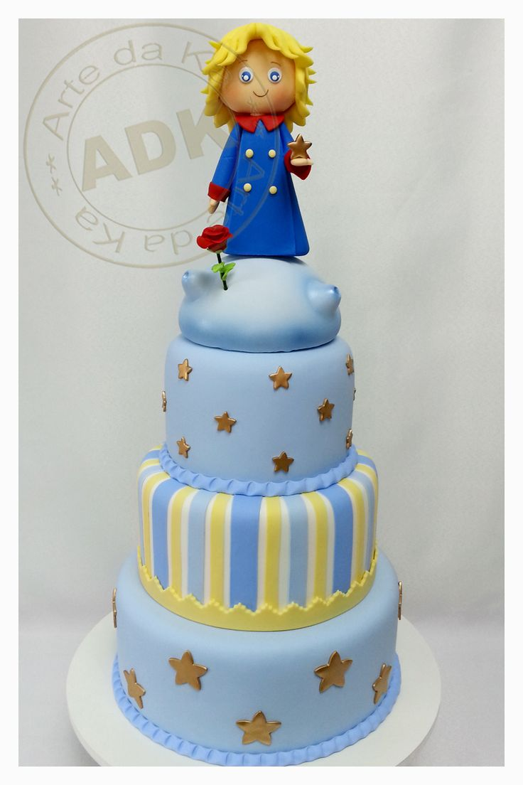 Le Petit Prince cake.                               I love her work, Karine Alves creates masterpieces, a shame that they must be cut at all!