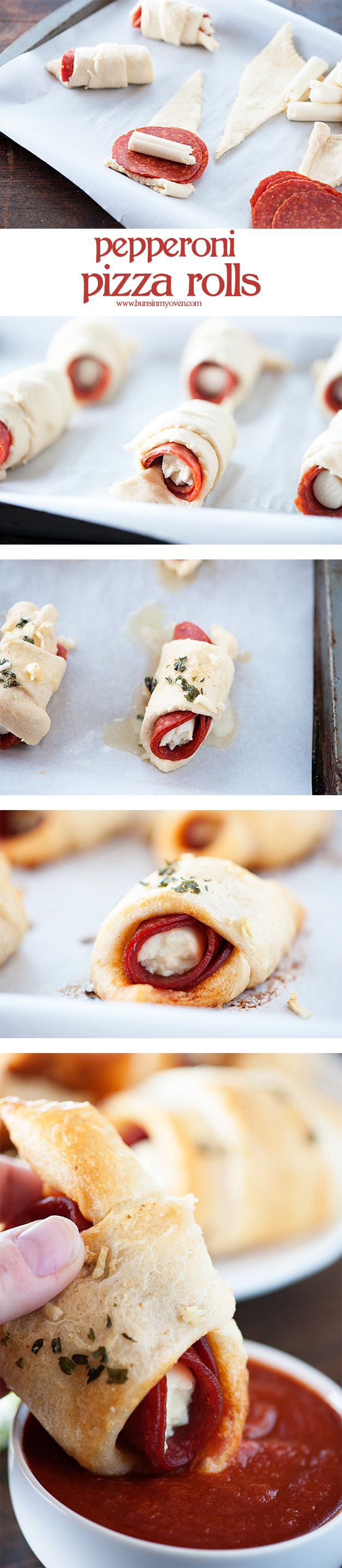 Easy to make pepperoni pizza rolls!