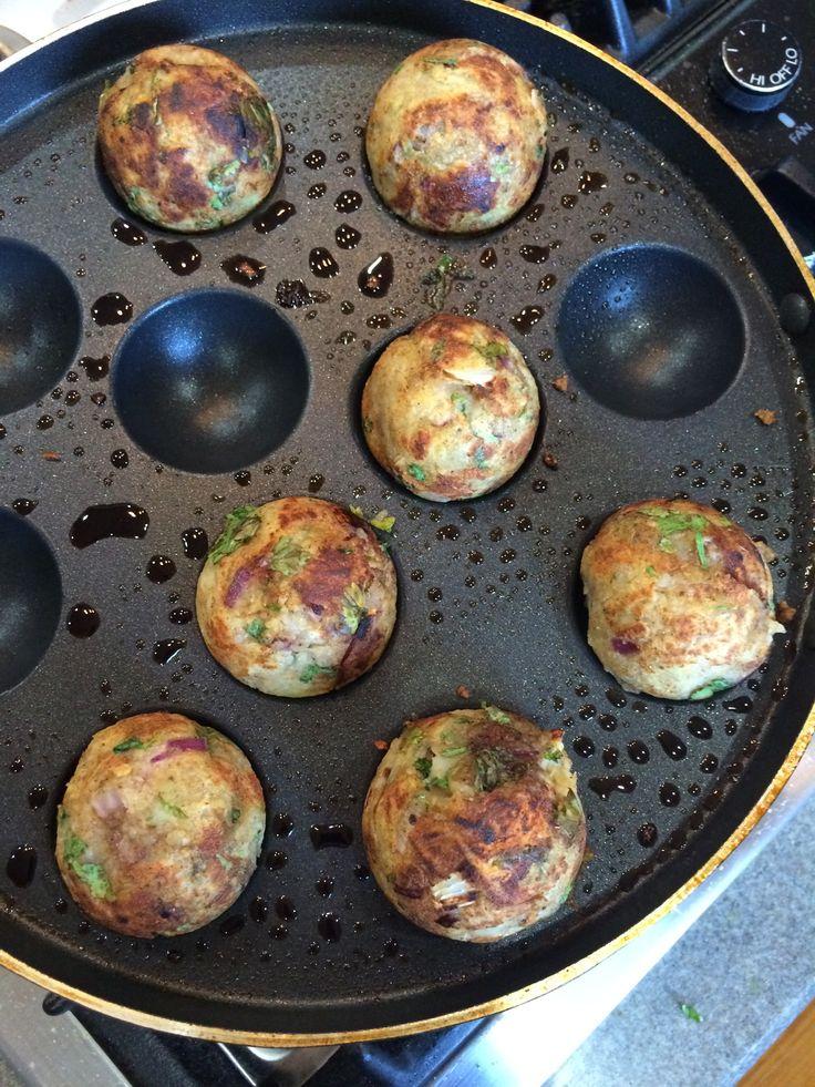 Potato and Gouda Cheeseballs in paniyaram pan or Danish Aebleskiver Pan (Not fried)