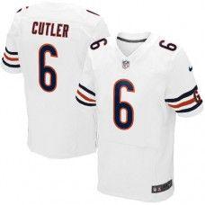 Men's Nike Chicago Bears #6 Jay Cutler Elite White Jersey $129.99