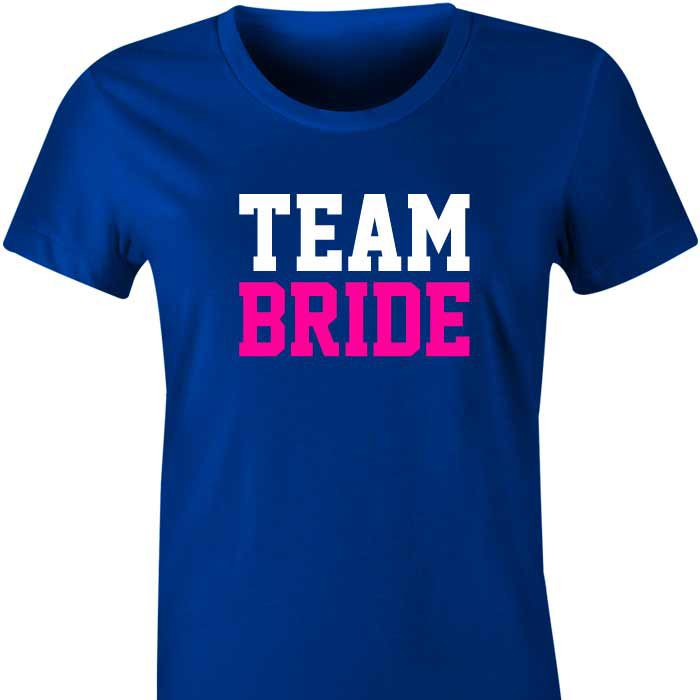 Team Bride T-Shirt or Singlet All the girls in your bridal party, your friends and family will feel special wearing these fun and fabulous Team Bride tshirts or singlets. Team Bride is written in v...