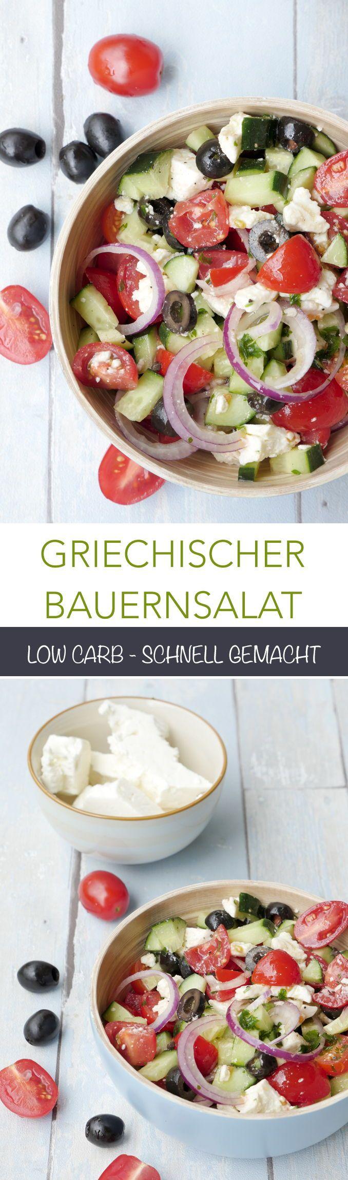 Griechischer Salat mit Feta – Bauernsalat