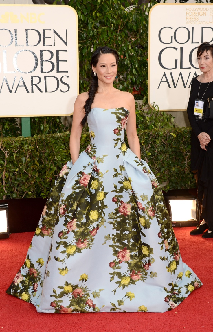 Lucy Liu in CHNY at the 70th Annual Golden Globes