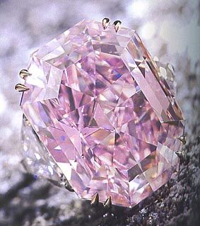 In 2011, the world's most expensive diamond ring sold for nearly $11 million, setting a new first in the Guinness Book of World Records. This rare  pink diamond ring is valued at $2.2 million per carat and boasts 5 carats and has two white diamonds on either side.