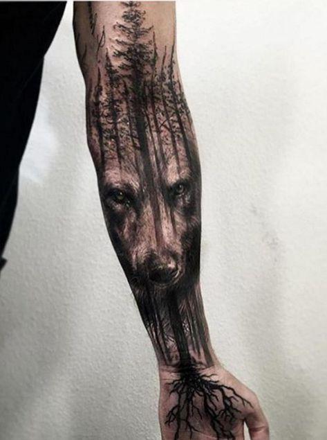 Tattoo Wolf – 60 inspirierende Ideen für Männer und Frauen – #Frauen #für #ha…