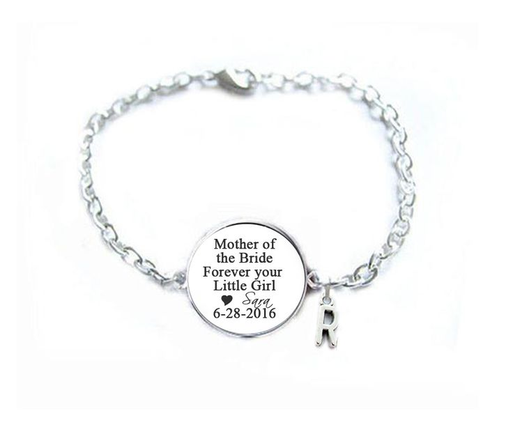 Mother of the Bride Initial Charm Bracelet, Wedding Gift, Gift for Mother, Mother Bracelet