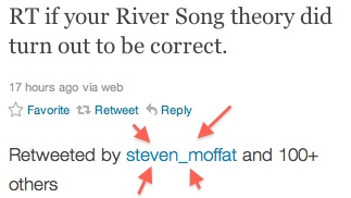 lol, Moffat. My River theory was correct btw. :PIn Doctors N, Whovian, Shakes Fist, Rivers Theory, Ohhh Moffat, Correct Btw, Moffat Try, High Amusement, Mine Totally