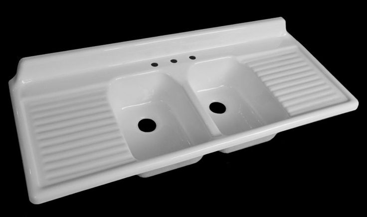 "NBI introduces its sixth vintage reproduction kitchen drainboard sink - 60"" wide - Retro Renovation"