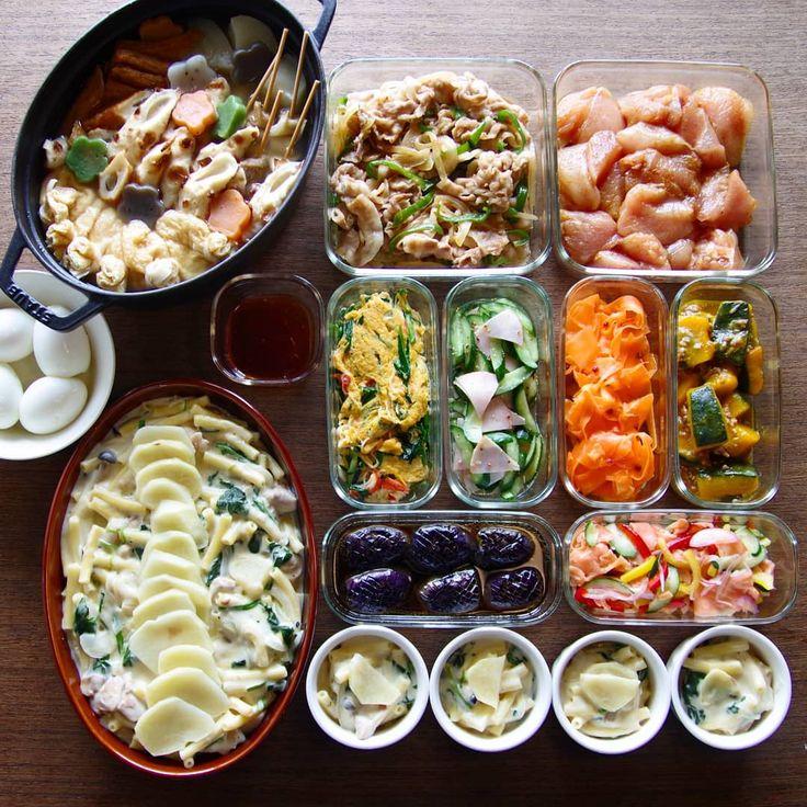 週末は、大雪でイレギュラー対応のオンパレードでした。 . タイヘン、タイヘンと言いつつも、雪国育ちの血が騒ぎます❄️ . 思いがけず、親から無農薬キャベツ&白菜という高級品のプレゼントがあったので、今日はとり野菜鍋で贅沢します😁 . おでん/豚肉生姜焼き風/むね肉のカレー唐揚げ(揚げる前)/ニラかに玉/きゅうりとハムのマスタードマリネ/にんじんリボンマリネ/かぼちゃのそぼろ煮/ポテトマカロニグラタン/なすの揚げ浸し/スモークサーモンのマリネ これと、ミックス生野菜。 . #作り置き #常備菜 #おかず #つくりおき #つくおき #ストックおかず #料理 #クッキングラマー #cooking #instafood #foodphoto #staub #ストウブ #うちごはん #ごはん #instacook #instahomemade #delistagrammer #homecooking #cookingram #food #cooking #kurashiru