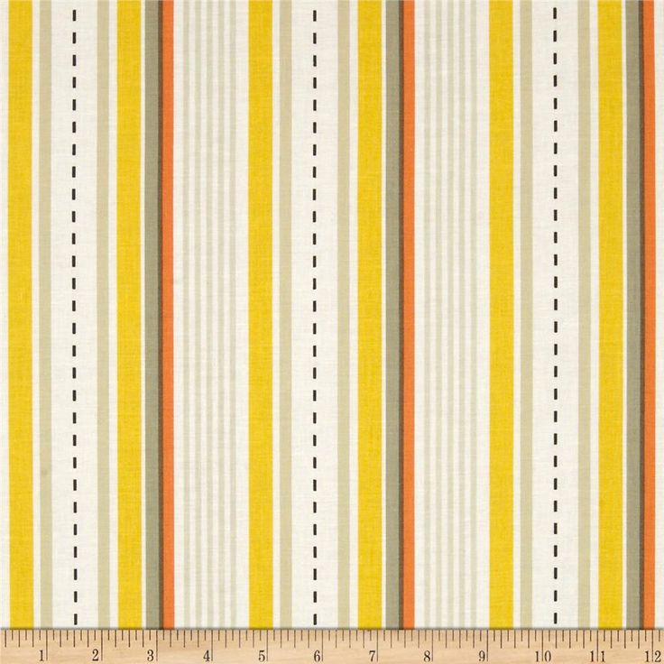 Michael Miller Racing Stripes Khaki from @fabricdotcom  Designed by Tamara Kate for Michael Miller, this cotton print is perfect for quilting, apparel and home decor accents.  Colors include white, soft black, orange, yellow, olive and shades of khaki.  This stripe is printed parallel to the selvedge.