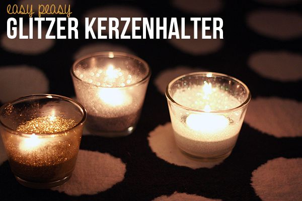 diy glitzer kerzenhalter