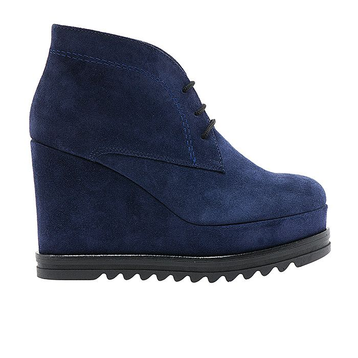55503-BLUE SUEDE #mourtzi #blueshoes #booties