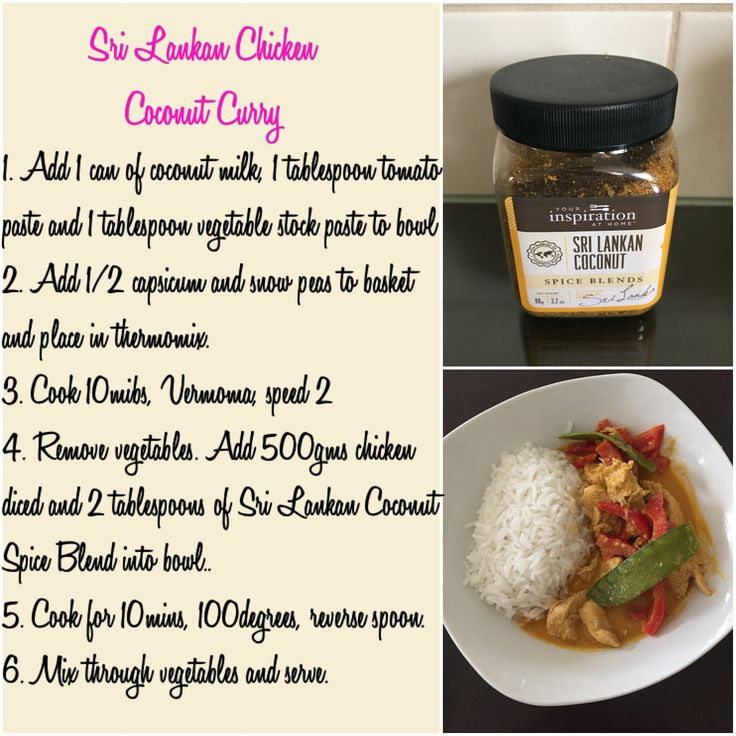 Thermomix Sri Lankan Coconut Chicken Curry