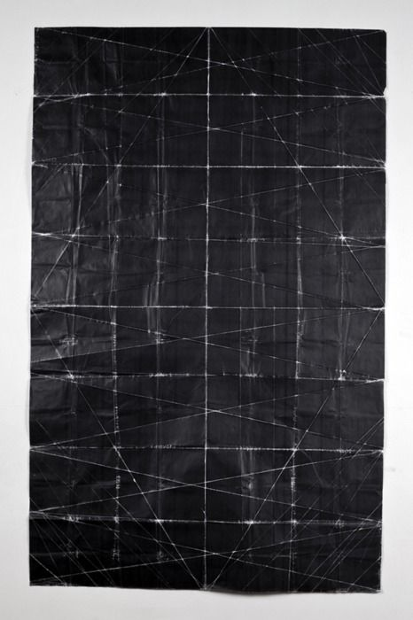 Niall McClelland // Tapestry - Beaten (2010) toner on paper, folded