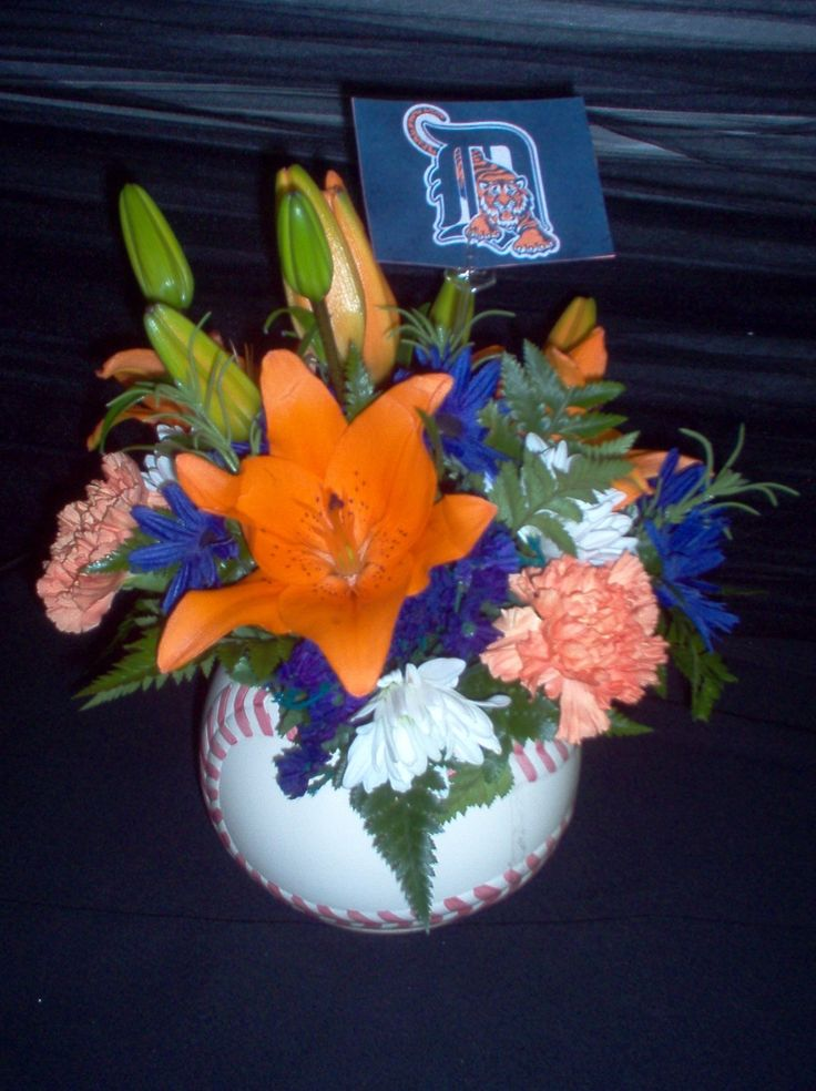 Detroit Tiger Baseball Arrangement