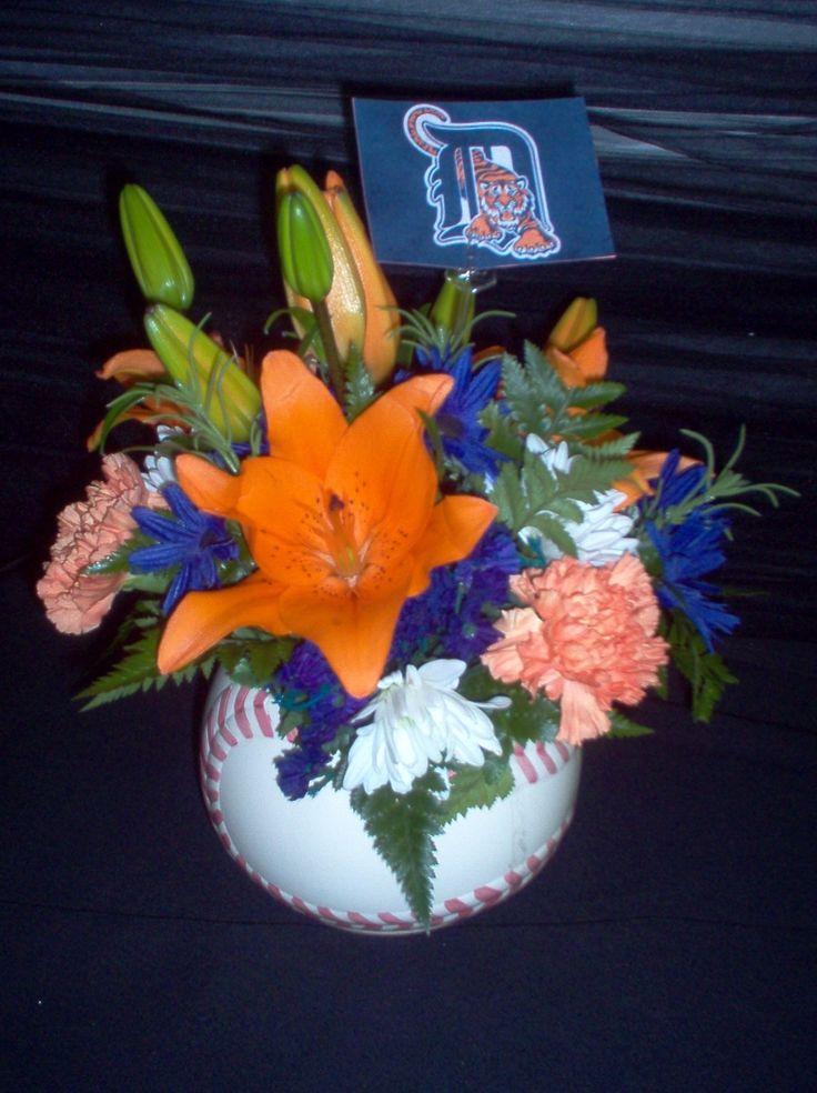 Detroit Tiger Baseball Arrangement