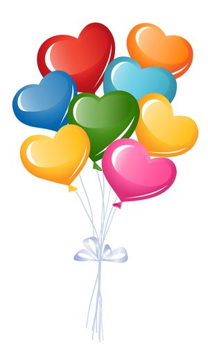 Colorful Heart Balloons | Facebook, Emoticon and Search