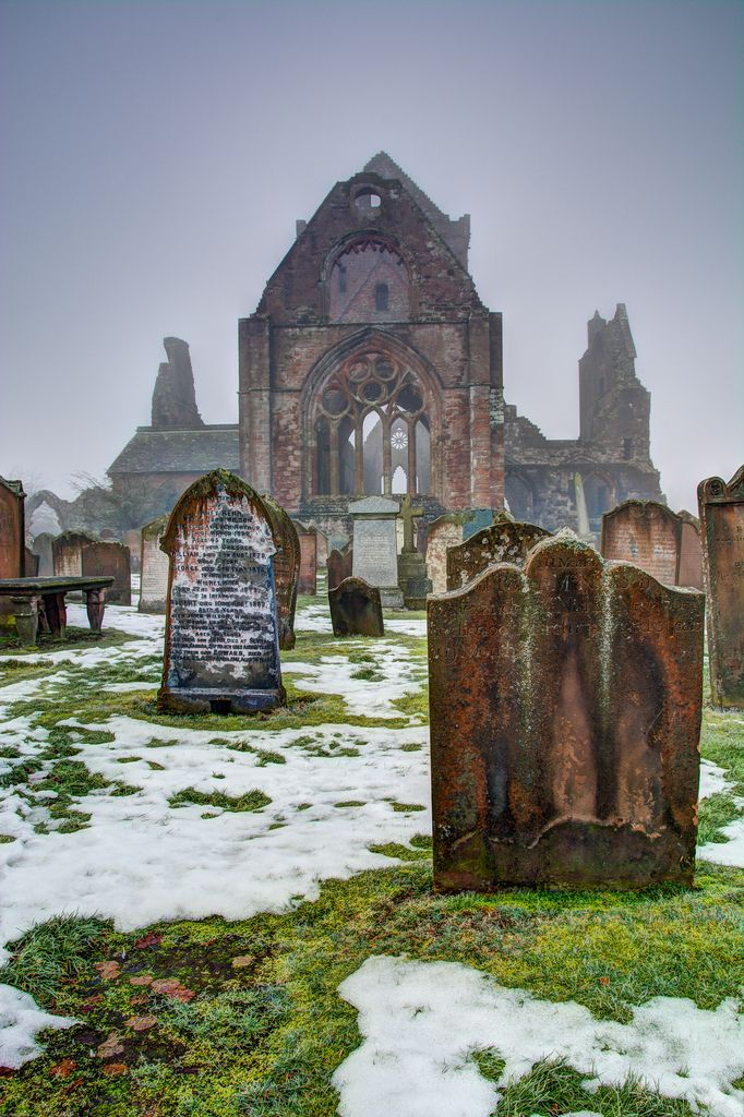 Sweetheart Abbey ruins, Dumfries and Galloway, Scotland.