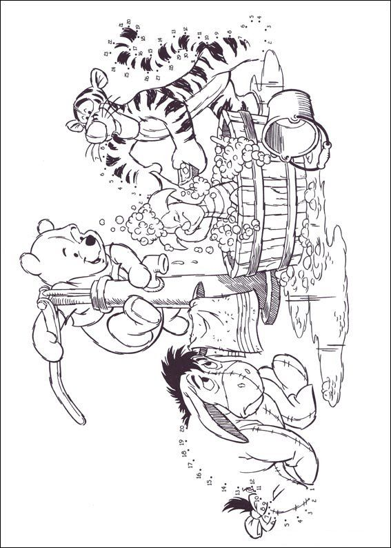 winnie the pooh eeyore tigger piglet bath coloring pages colouring adult detailed advanced printable kleuren voor - Tigger Piglet Coloring Pages