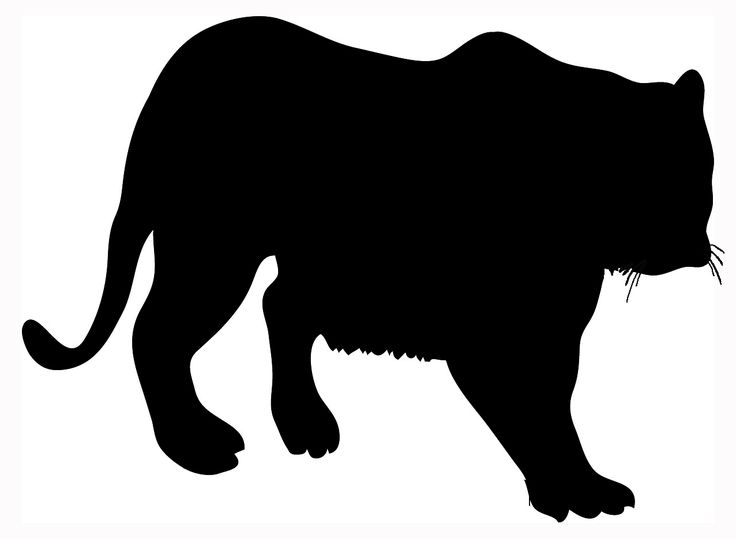 big silhouette of tiger black | Cakes - Hunting | Pinterest