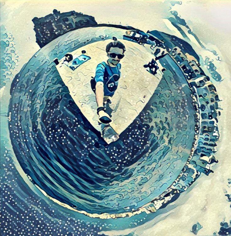 #360 #theta #hokusai #ischia #tinyplanet