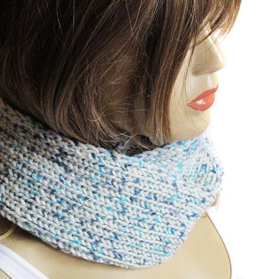 Green mint knit cowl  scarf  neck warmer birthday by selenayy #etsy #scarf #accessory #women #womensfashion #handmade #scarves