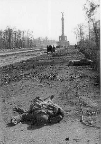 Battle of Berlin 1945 - the victor becomes the vanquished with devastating results.  Hard years were to follow for the Germans.