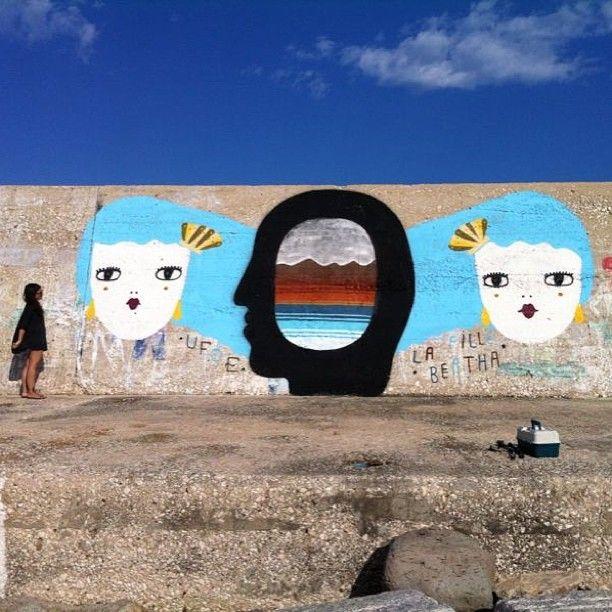 """Les deux filles des ondes"" LaFilleBertha & Ufoe  Cala Gonone (Sardinia) Summer 2013"