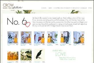 Crow Water Perfumes. Vegan and reasonably priced at $38 (ship to the UK and other countries).
