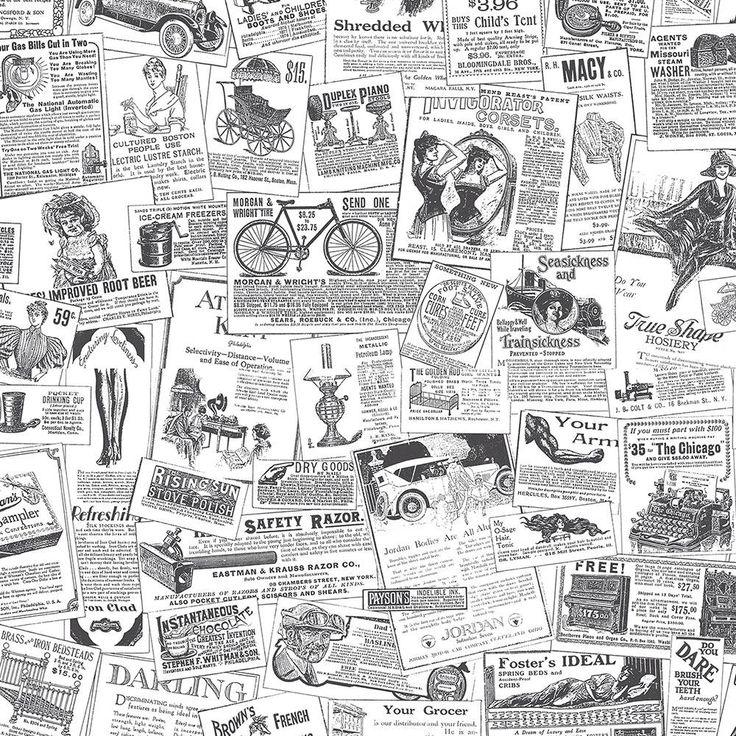 25 best newspaper wallpaper ideas on pinterest. Black Bedroom Furniture Sets. Home Design Ideas