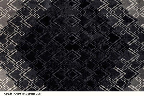 Designer Jiun Ho : Kyle Bunting Modern Cowhide Leather Rug Designs