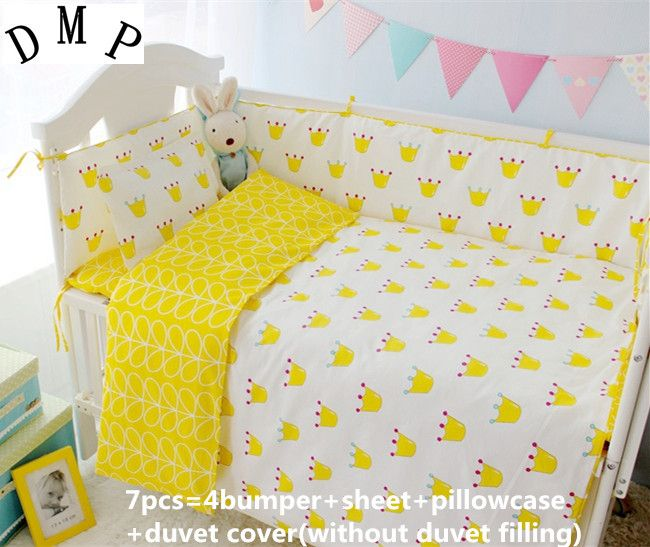 >> Click to Buy << Promotion! 6/7PCS baby bumper for infant,Cot crib cushion for newborn cot bed sets   ,Duvet Cover,120*60/120*70cm #Affiliate