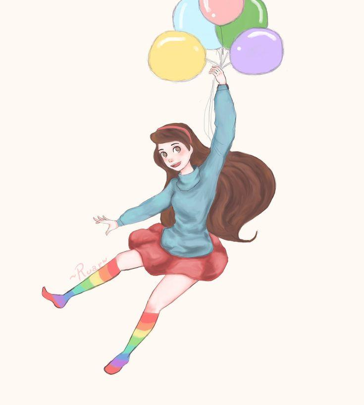 MABEEEEEEEEEEEEEEEEEEEEEEEL~~~~~ otro dibujo en el olvido :c cute cute cute <3 (los globos y las calcetas fueron pintados a mouse ;________; mi stylus MURIÓ DDDDDDDDD
