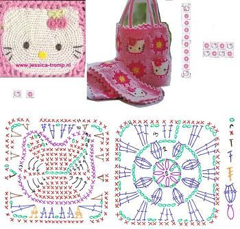 hello kitty tote bag to crochet
